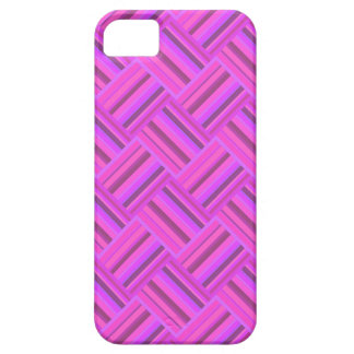 Pink stripes diagonal weave pattern case for the iPhone 5