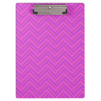 Pink stripes double weave pattern clipboard
