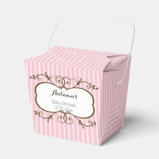 Pink Stripes Favor Box