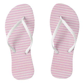 Pink Stripes Flip Flops for Women
