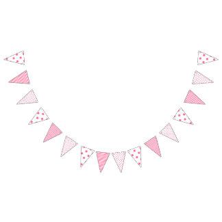Pink Stripes & Polkadots -  Party Bunting Banner