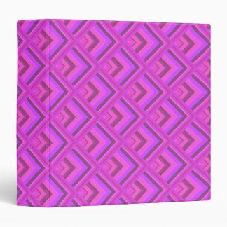 Pink stripes scale pattern binder