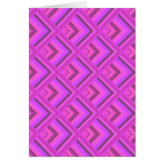 Pink stripes scale pattern card