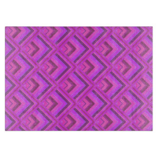 Pink stripes scale pattern cutting board