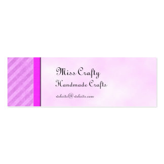 Pink Stripes Skinny Card Gift Tag Template Mini Business Card
