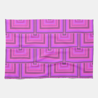 Pink stripes square scales pattern kitchen towel