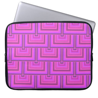 Pink stripes square scales pattern laptop sleeve