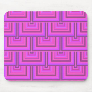 Pink stripes square scales pattern mouse pad