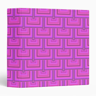 Pink stripes square scales pattern vinyl binder
