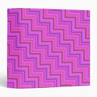 Pink stripes stairs pattern 3 ring binder