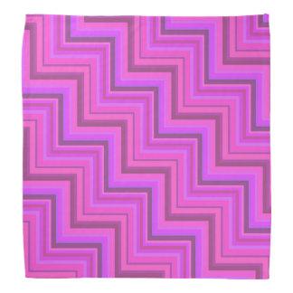 Pink stripes stairs pattern bandana