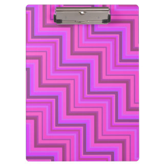 Pink stripes stairs pattern clipboard