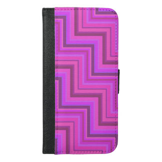 Pink stripes stairs pattern iPhone 6/6s plus wallet case