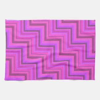 Pink stripes stairs pattern kitchen towel