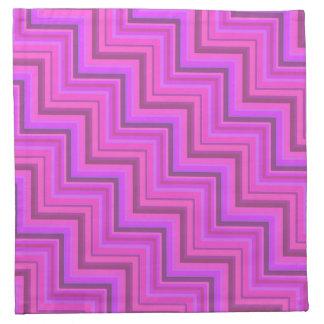 Pink stripes stairs pattern napkin