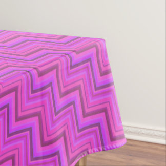 Pink stripes stairs pattern tablecloth