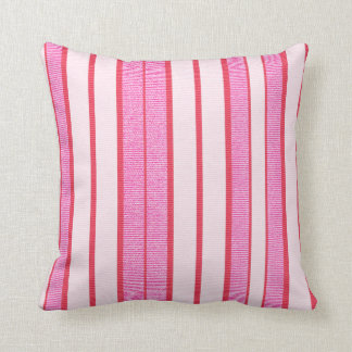Pink Stripes Texture Pattern Throw Pillow