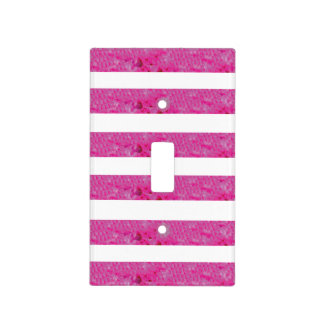 Pink Stripes - Toggle Light Switch Cover