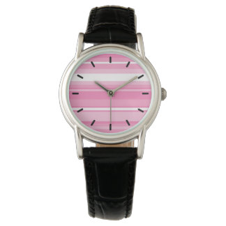 Pink stripes watch