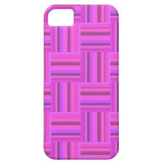 Pink stripes weave pattern iPhone 5 cases