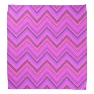 Pink stripes zigzag pattern bandana
