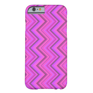 Pink stripes zigzag pattern barely there iPhone 6 case