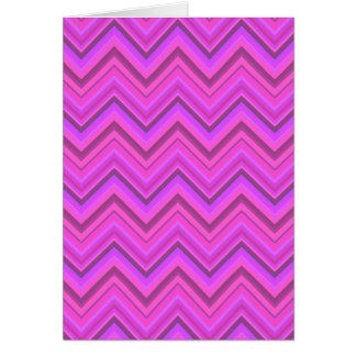 Pink stripes zigzag pattern card