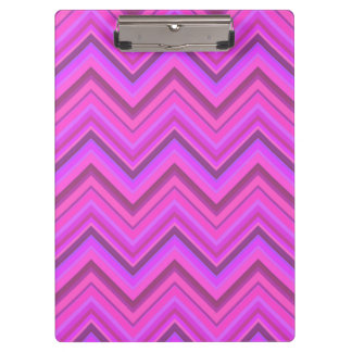 Pink stripes zigzag pattern clipboard