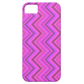 Pink stripes zigzag pattern iPhone 5 cases