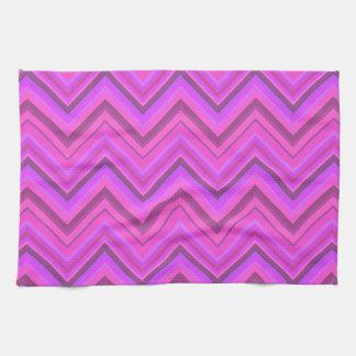 Pink stripes zigzag pattern kitchen towel