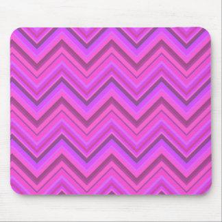 Pink stripes zigzag pattern mouse pad