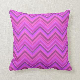 Pink stripes zigzag pattern throw pillow