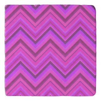 Pink stripes zigzag pattern trivet