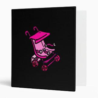 Pink Stroller 3 Ring Binder