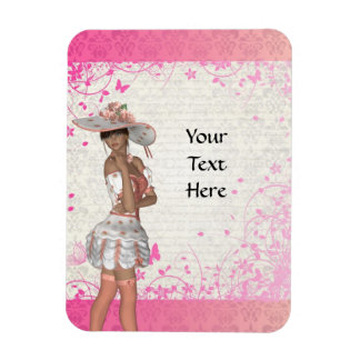 Pink summer girl magnet