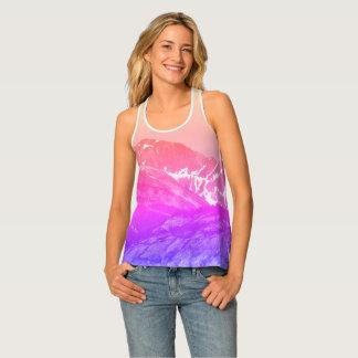 Pink Summer Mountains Tank