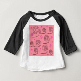 Pink summer spirals Art Collection 2017 Baby T-Shirt