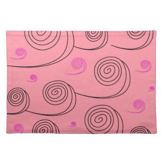 Pink summer spirals Art Collection 2017 Placemat