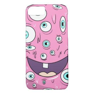 Pink sun monster by ilya konyukhov iPhone 7 case