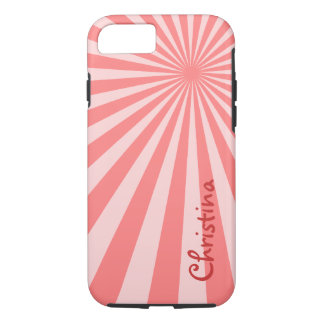 "Pink Sunburst ""Add Your Name"" iPhone 7 Case"