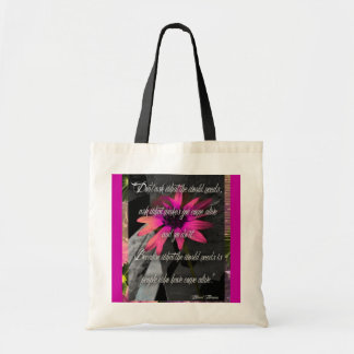 Pink Sunflower Bag, w/ inspirational quote Tote Bag
