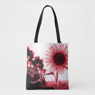 Pink sunflower cross body bag