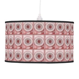Pink Sunflower Pendant Lamp