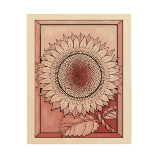 Pink Sunflower Wood Wall Decor