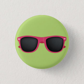 Pink Sunglasses 1 Inch Round Button