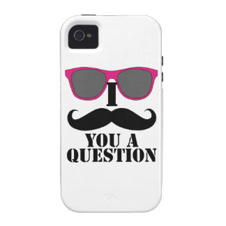 Pink Sunglasses and I Moustache You a Question iPhone 4/4S Cover