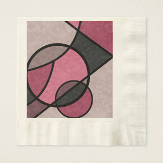 Pink Sunrise , abstract Disposable Napkins