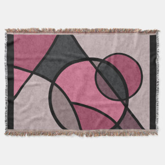 Pink sunrise , abstract throw blanket