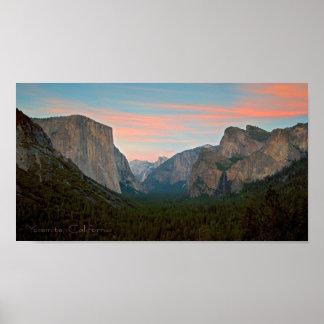 Pink sunset at Yosemite Print
