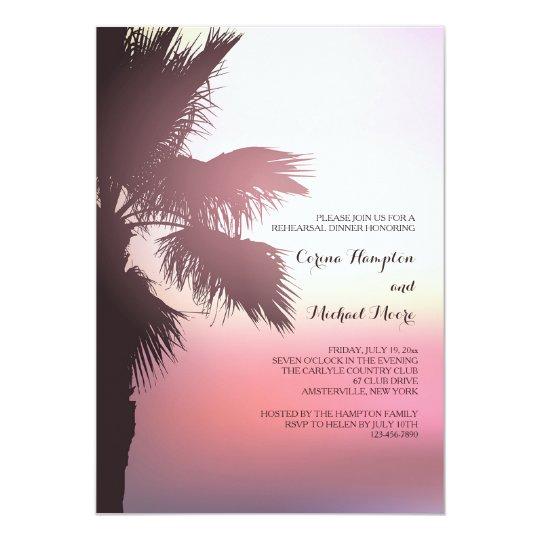 Pink Sunset Invitation